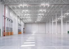 JUA044: Interior view of dock doors and skylights