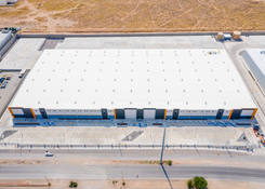 JUA044: Aerial view, TPO roof with skylights