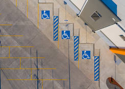 JUA044: Aerial view of accesible parking